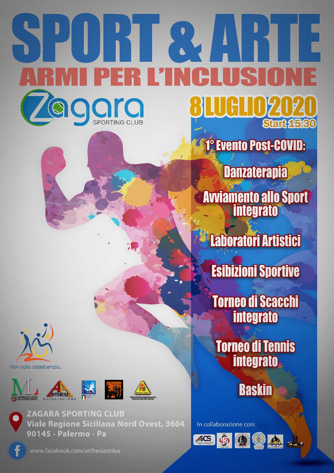 """""""Sport&Arte: armi per l'integrazione"""" – 8 luglio 2020"""