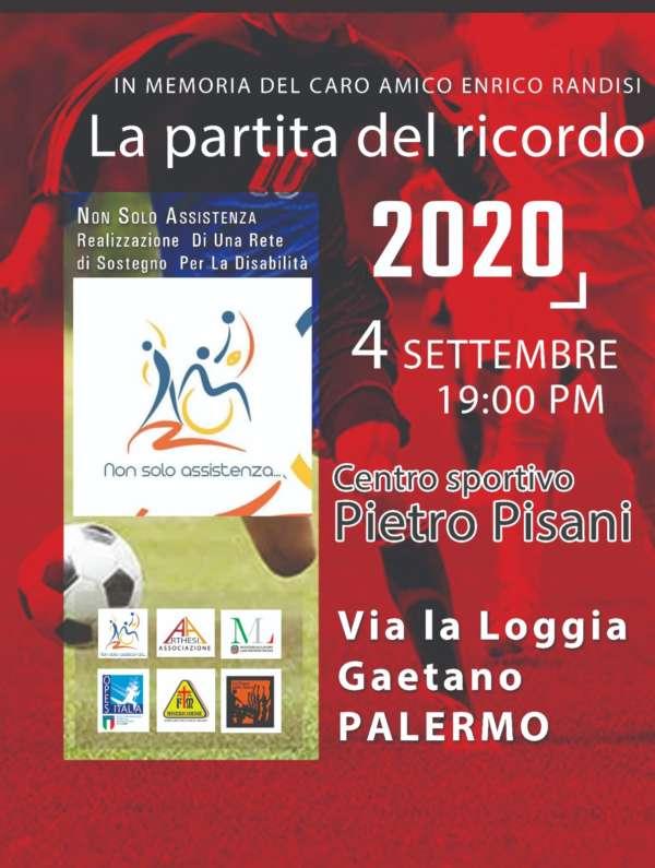 """""""La partita del ricordo"""" – Palermo, 4 settembre"""